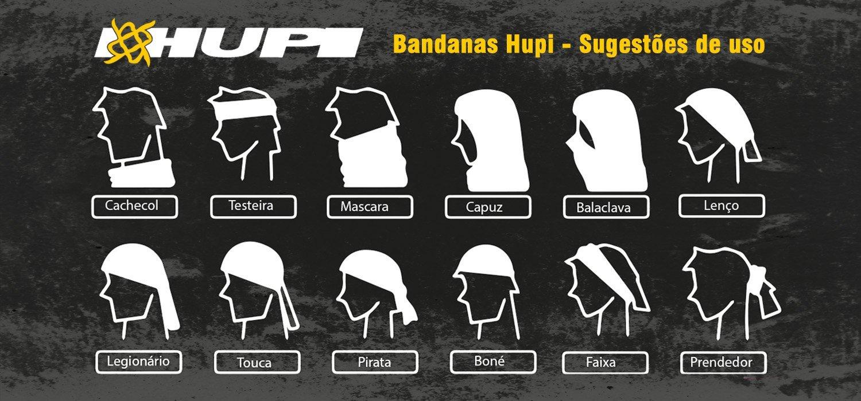 Bandana HUPI - Simbol Branco