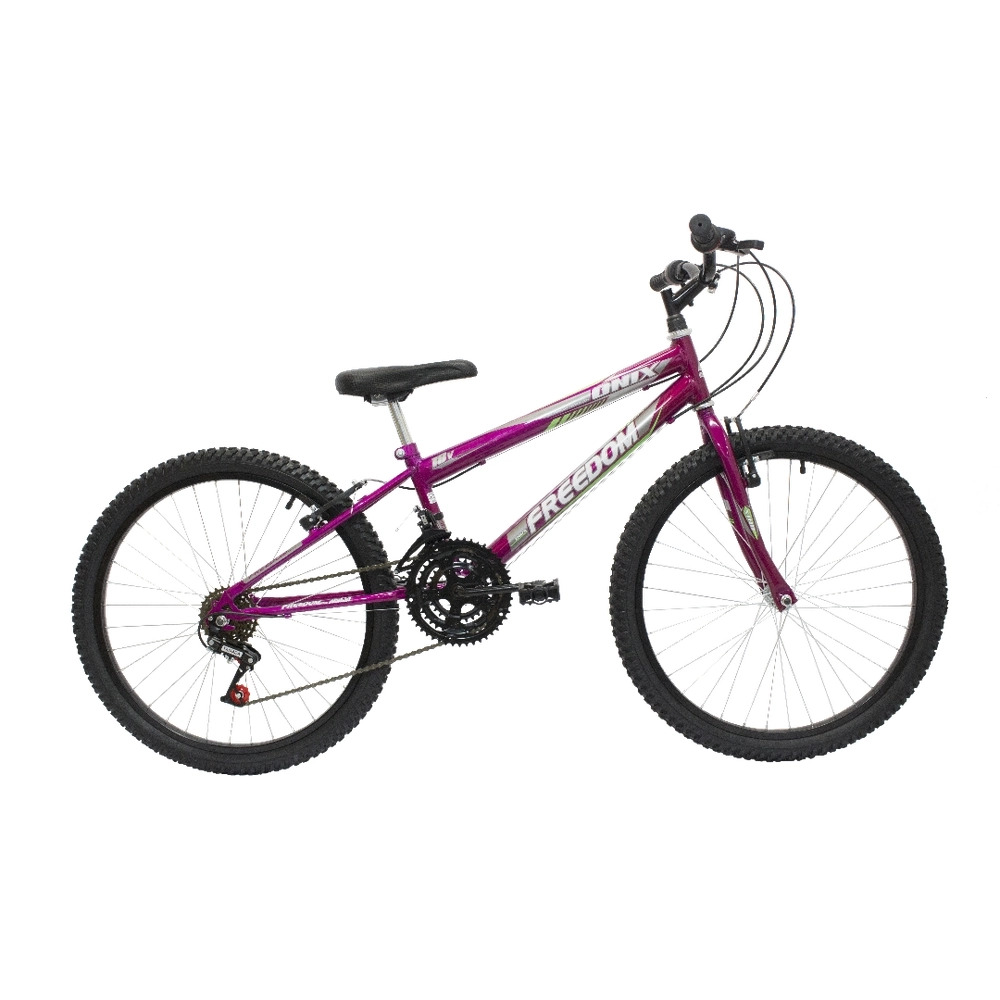 Bicicleta Freedom Bike Aro.24 Onix 18m Preto Fosco