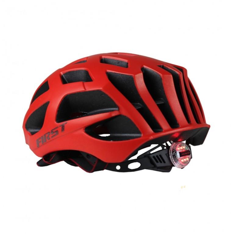 Capacete Bicicleta Bike Ciclista First Vermelho Brilhante