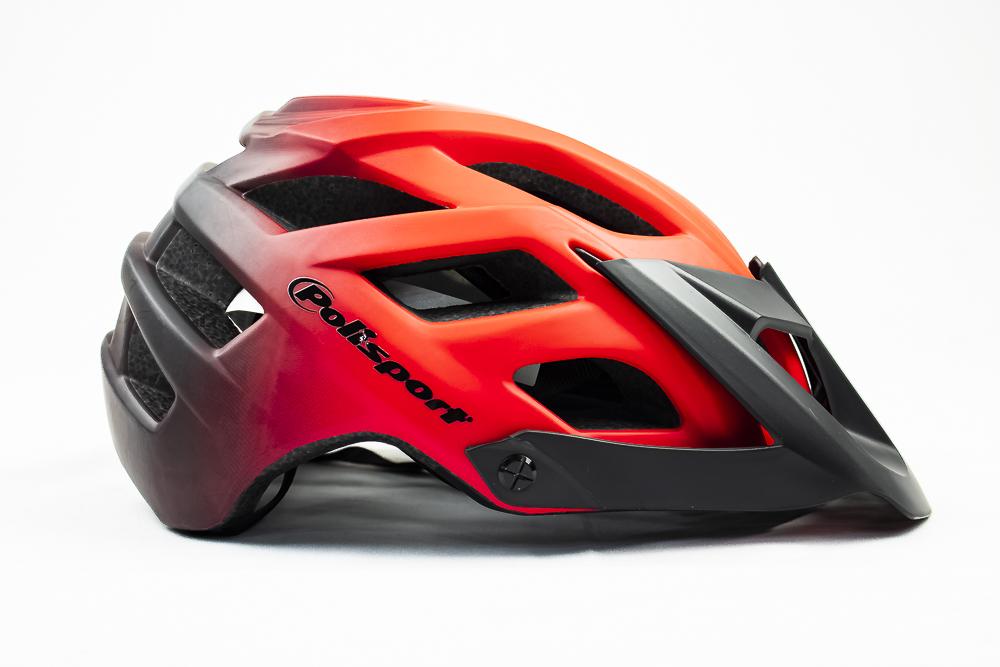 Capacete Bike Polisport E3 Enduro Vermelho