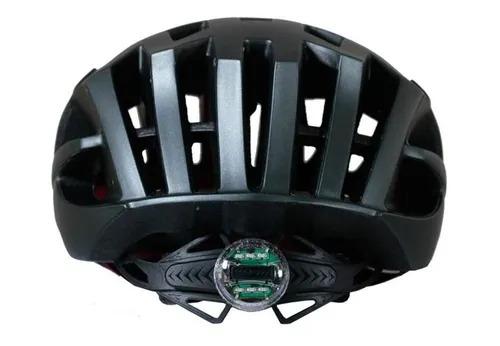 Capacete Ciclismo Bike Mtb First Speck C/ Sinalizador Preto Fosco