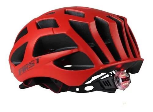 Capacete Ciclismo Bike Mtb First Speck C/ Sinalizador Vermelho Fosco