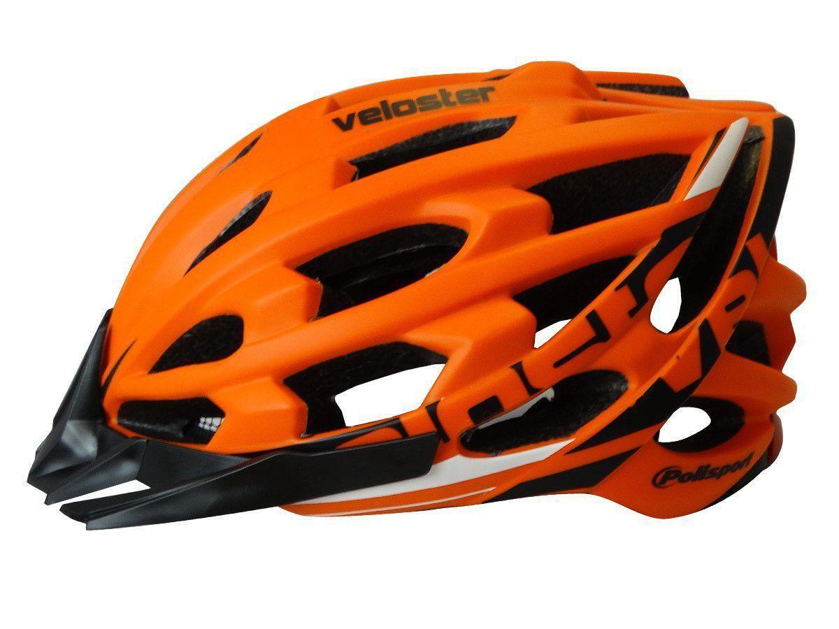 Capacete Ciclismo Polisport Veloster Laranja M 55/58