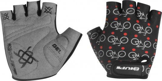 Luva Ciclismo HUPI Eco Dedo Curto Love Bike Preto