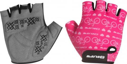 Luva Ciclismo HUPI Eco Dedo Curto Love Bike Rosa