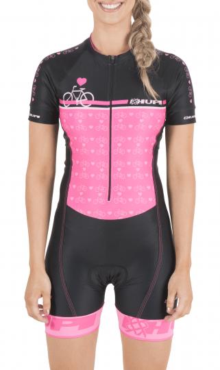 Macaquinho Ciclismo HUPI Rosa Love Bike TAM P