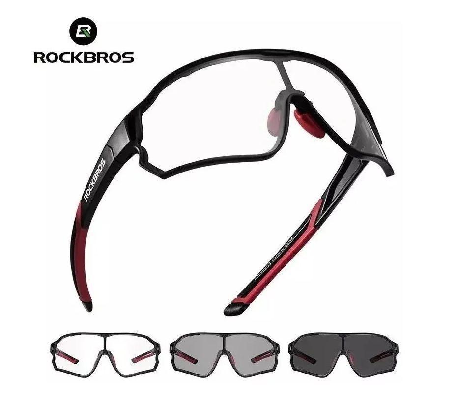 Óculos De Sol Ciclismo Mtb Bike 400uv Fotocromático  RockBros