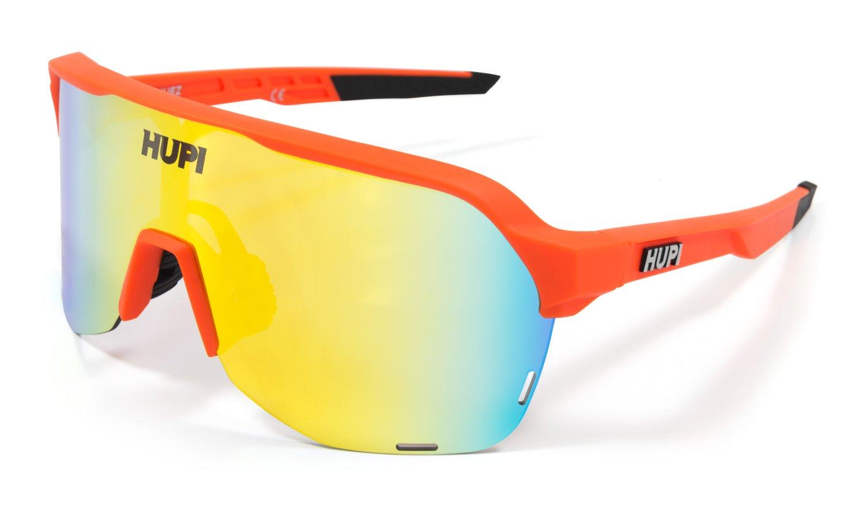 Óculos de Sol HUPI Huez Laranja/Preto - Lente Laranja Espelhado