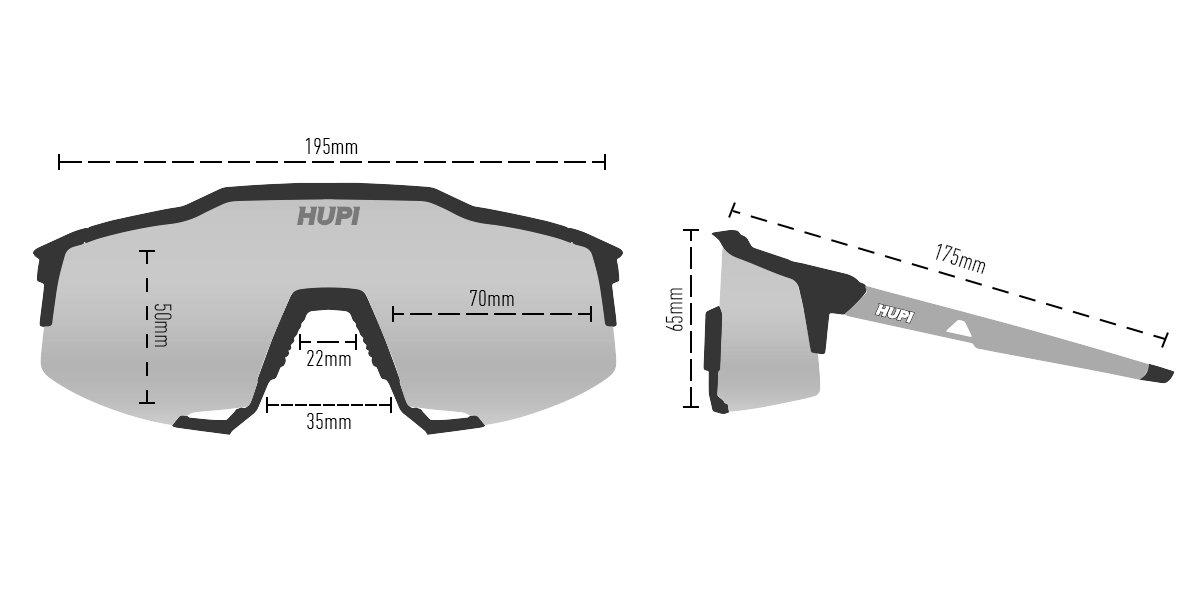 Óculos de Sol HUPI Stelvio Roxo/Preto - Lente Preto