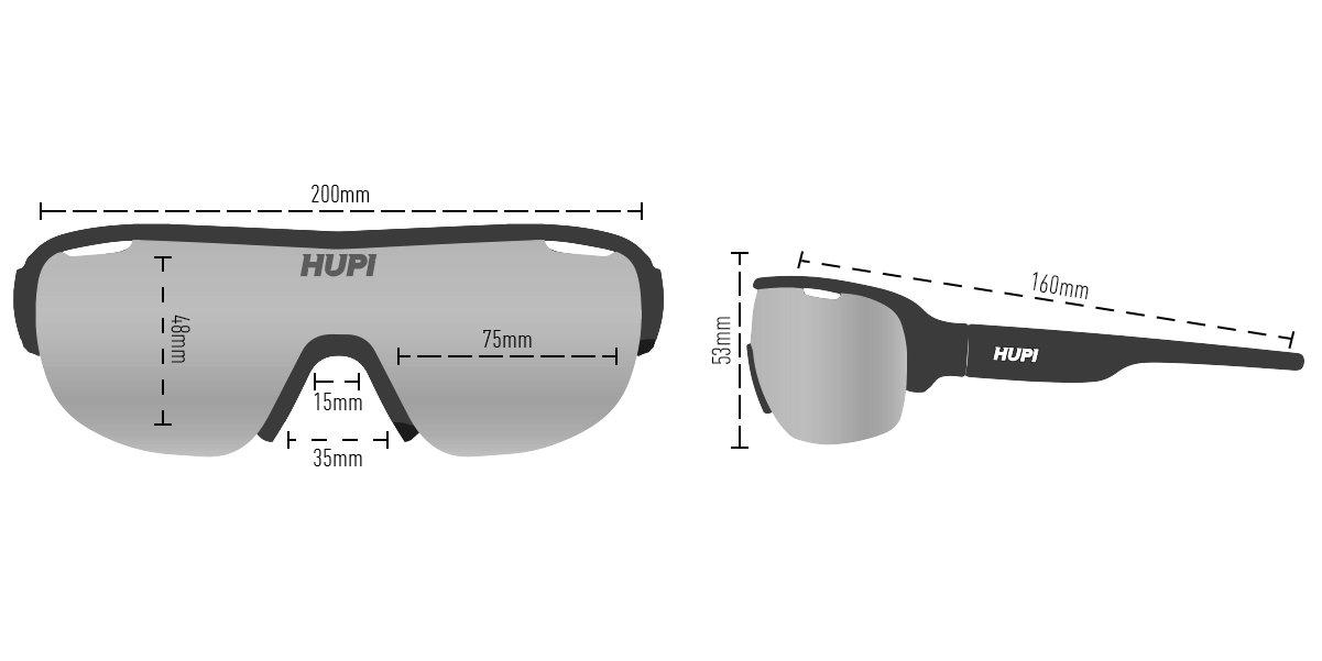 Oculos HUPI Pacer Preto - Clip Para Lentes De Grau