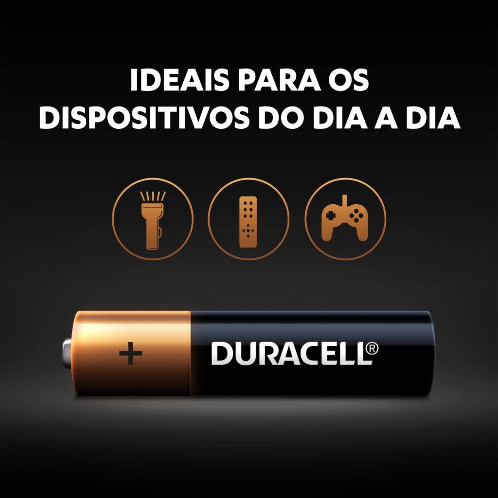 16 Pilhas Alcalina AAA Palito Duracell MN2400B16 1,5v