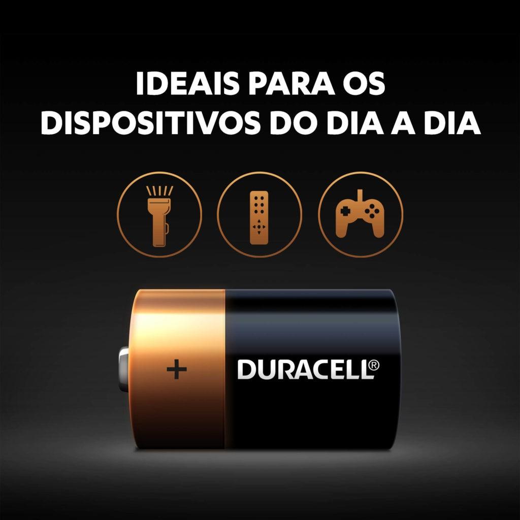 2 Baterias Alcalina Duracell Grande D MN1300B2