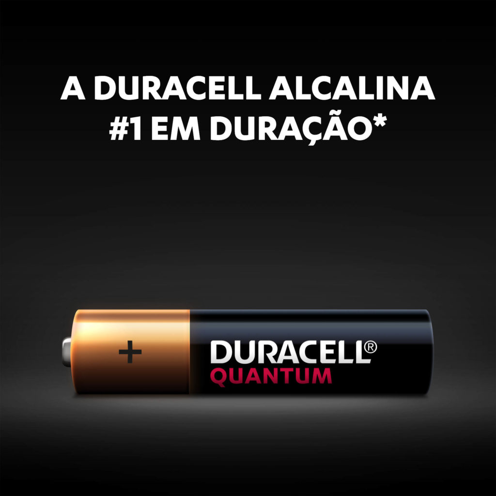 2 Pilhas Alcalina Duracell Quantum AAA Palito 1,5v