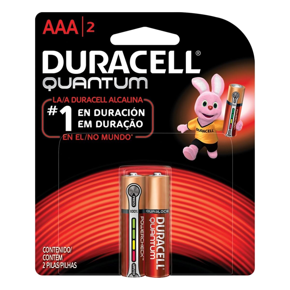 36 Pilhas Duracell Alcalina Quantum AAA Palito Cartela C/2