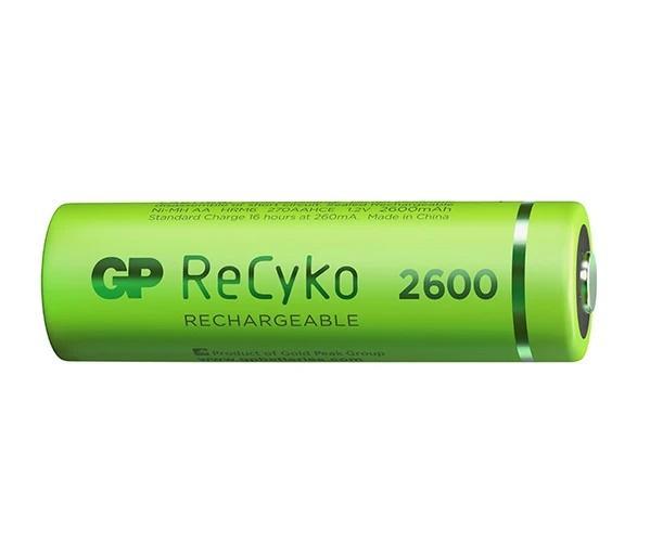 4 Pilhas Recarregáveis GP Batteries AA Pequena 2700mAh 1,2v