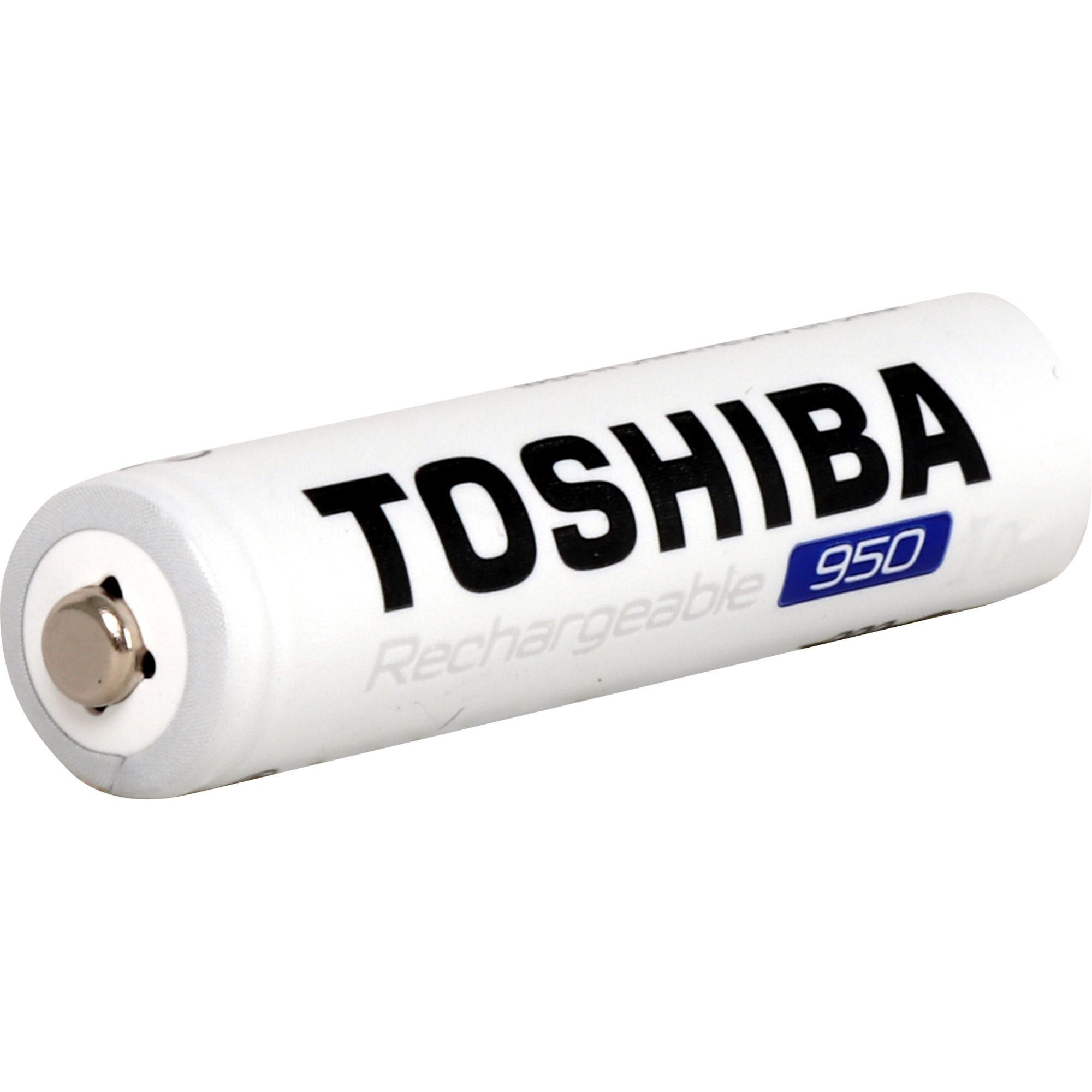 4 Pilhas Recarregáveis Toshiba AAA Palito 950mAh TNH-03GAE BP-4C 1,2v