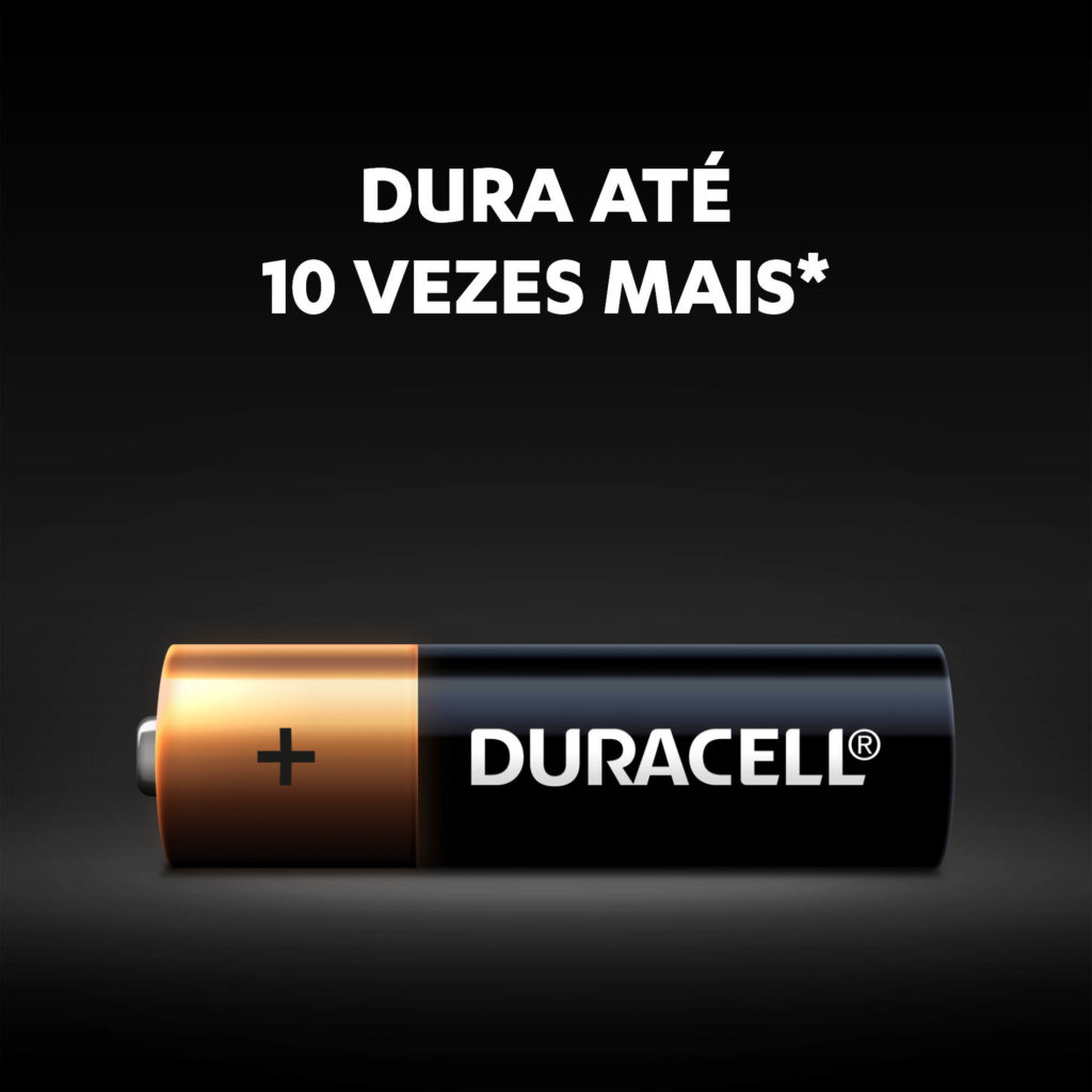 8 Pilhas Alcalina Duracell AA Pequena 1,5v MN1500B8