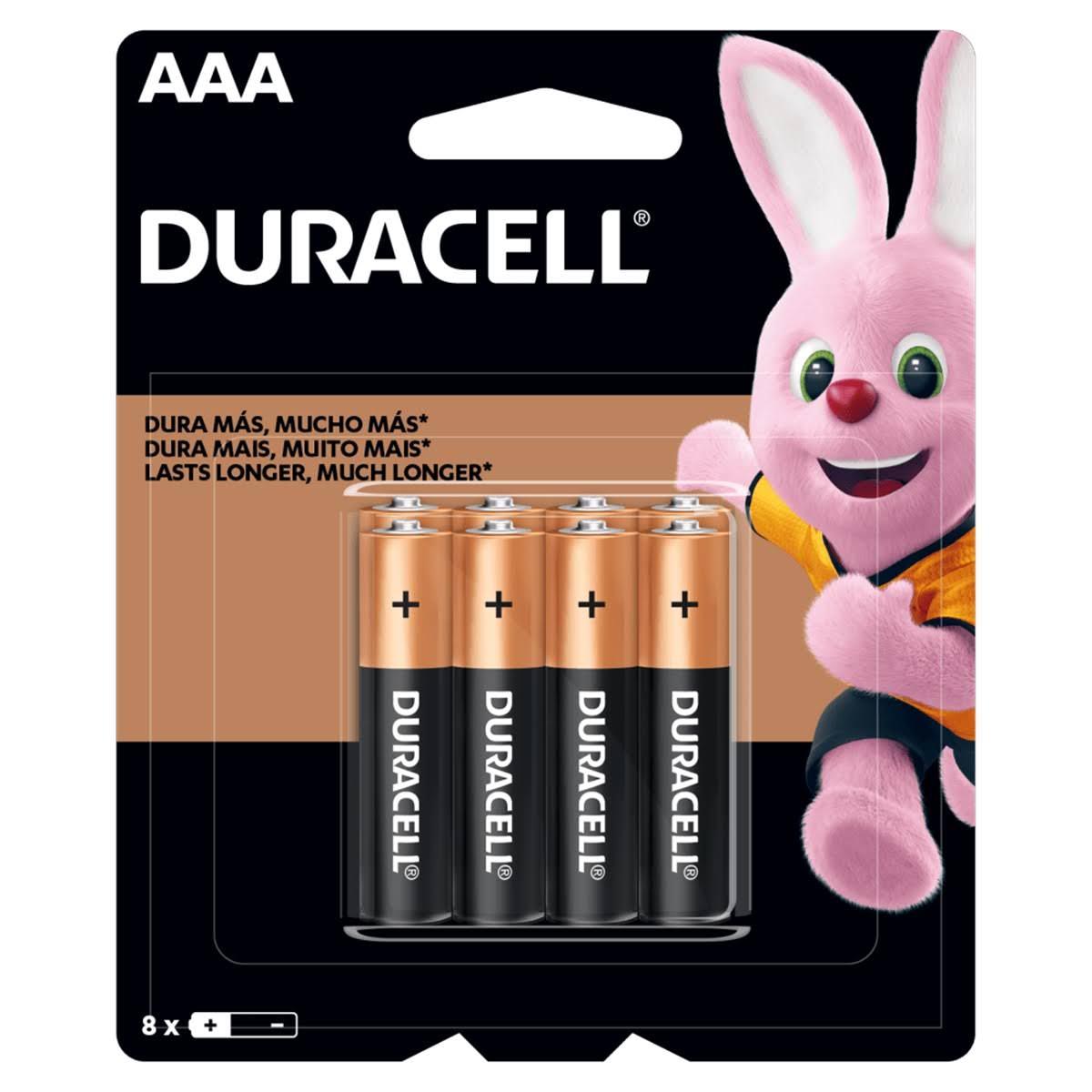 8 Pilhas Alcalina Duracell AAA Palito 1,5v MN2400B8
