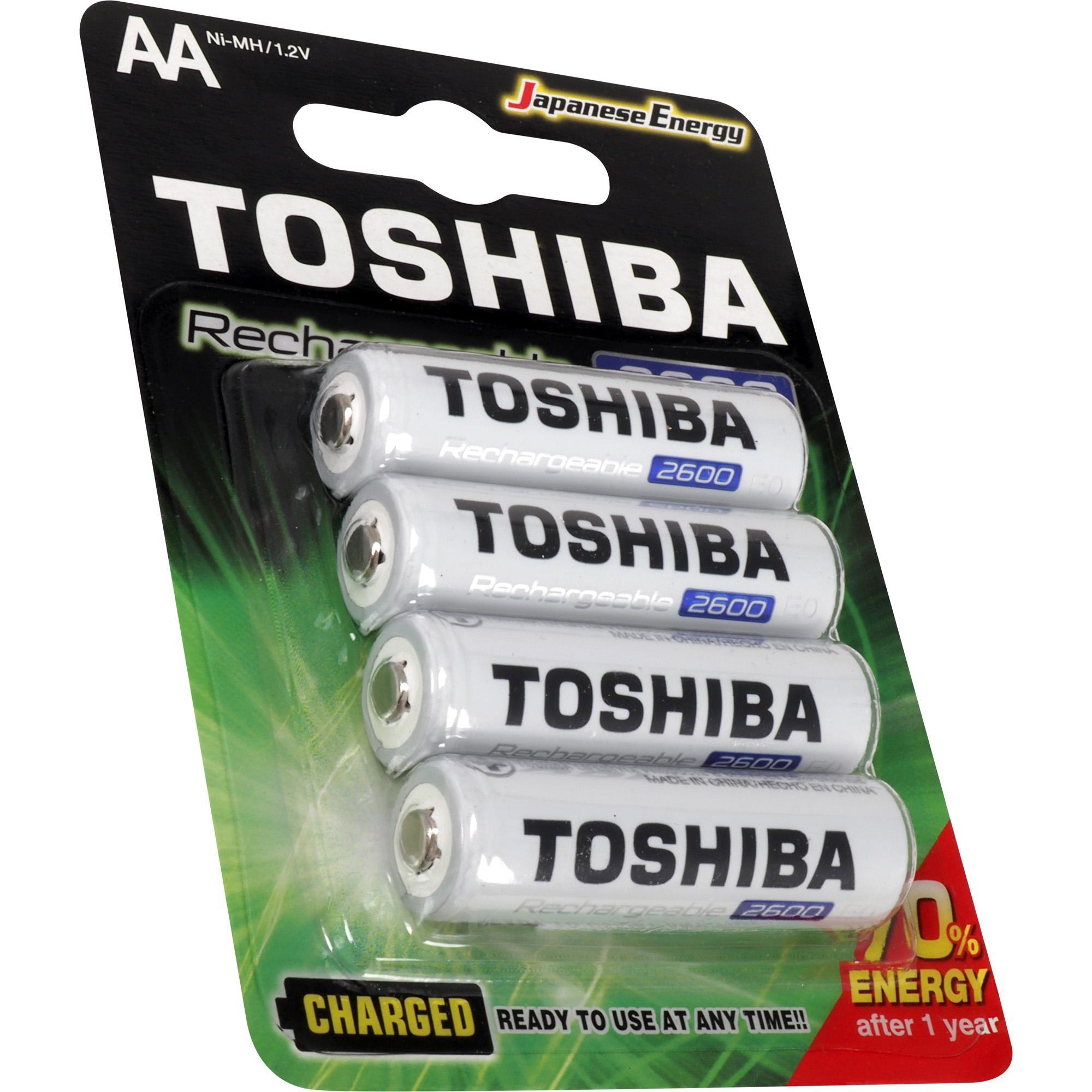 8  Pilhas Recarregáveis AA 2600Mah Toshiba