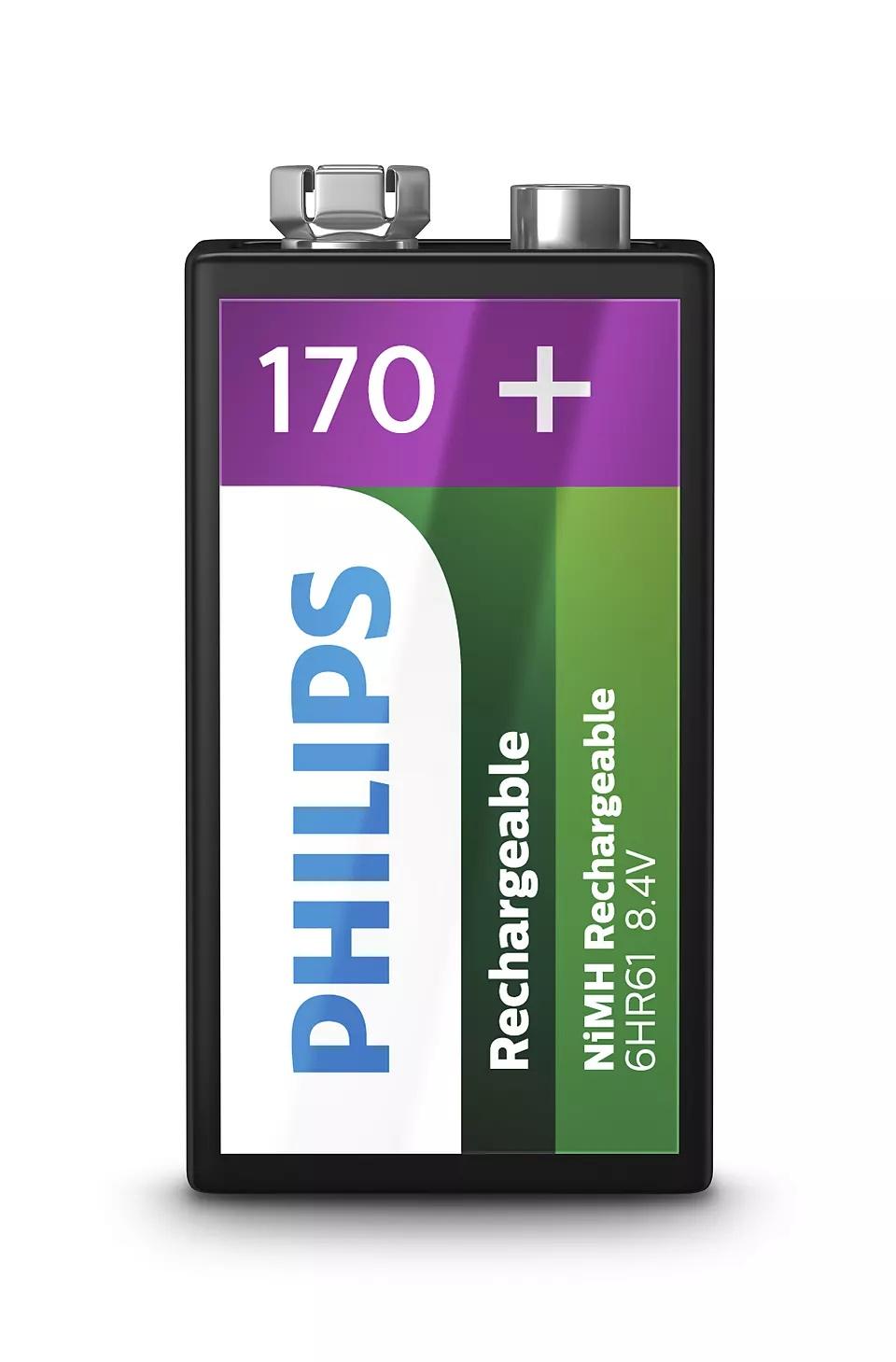 Bateria Recarregável Philips 9 Volts 9VB1A17/10