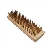 Escova de Aço e madeira para Limpeza Bruta 6 fileiras