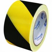 Fita Zebrada para Sinalização Preta e Amarela 70 X 200mts