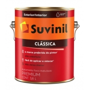 Tinta Látex Clássica Fosca Premium Paredes Suvinil 3,6Litros