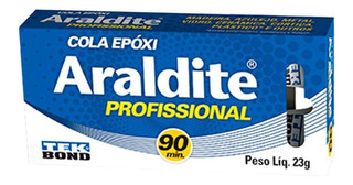 ADESIVO EPOXI ARALDITE PROF 90MIN MADEIRA METAL VIDRO 23G