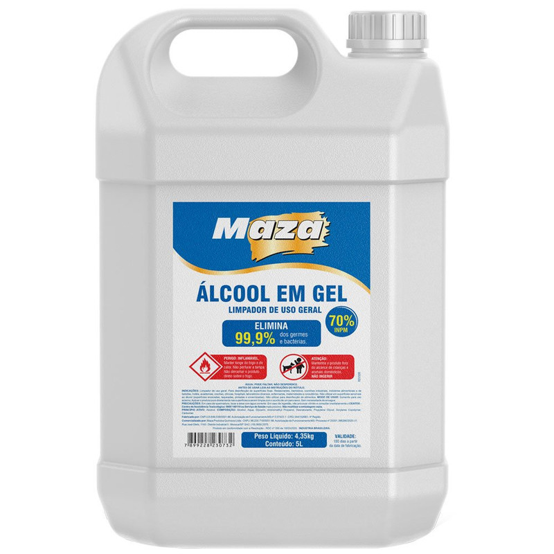 Alcool Em Gel 70% 5 Litros