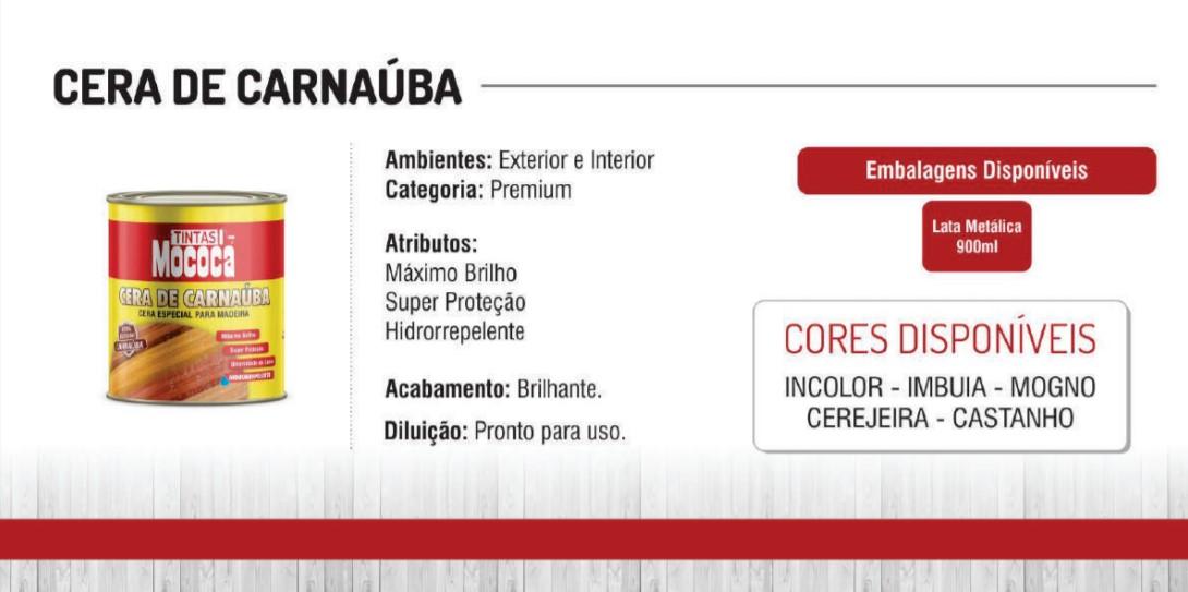 Cera De Carnauba Especial para Móveis e Madeiras Litro 900ml