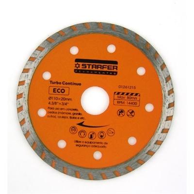 Disco Corte Diamantado Eco Turbo Contínuo 110x20mm 4 3/8x3/4