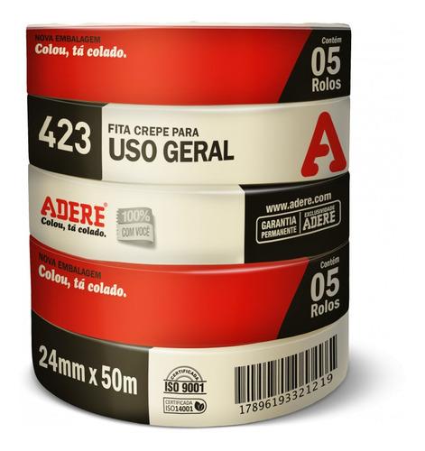 Fita Crepe 24X50 Média Uso Geral Adere