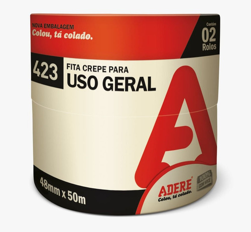 Fita Crepe 48X50 Larga Uso Geral Adere