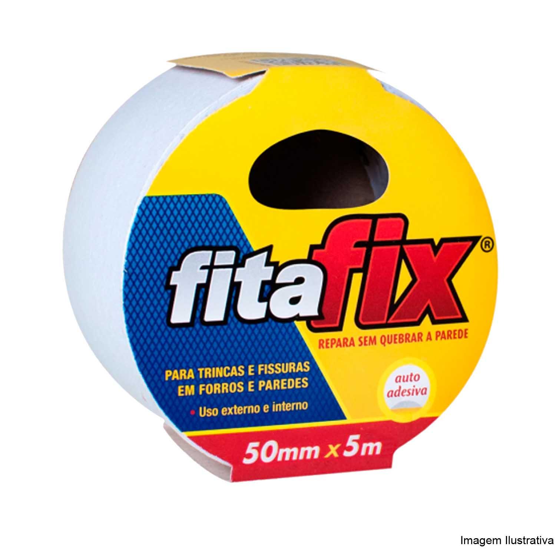 Fita Fix para Trincas Fissuras em Forros Paredes 50mmx5mts