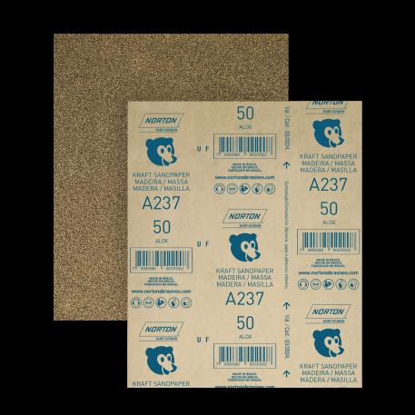 Lixa para Madeira Kit 10 Folhas + 01 Suporte 1/2 Lixa Atlas