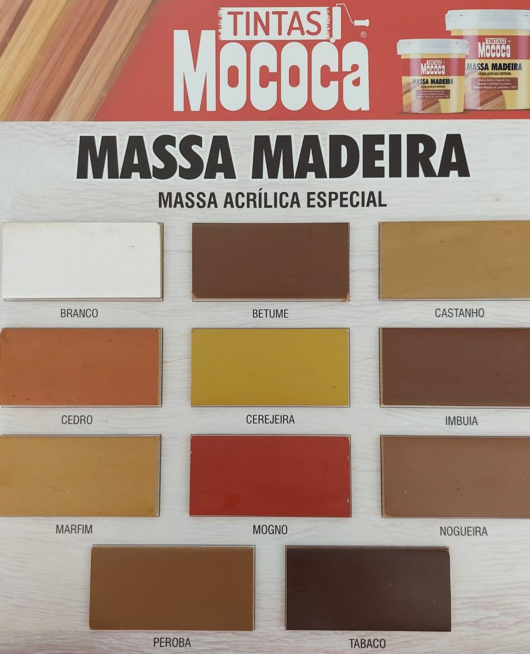 Massa Para Madeira Rejuntar Calafetar Base Água Cores 1,3Kg