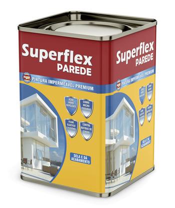 Tinta Emborrachada Superflex Parede Branco 18Kg