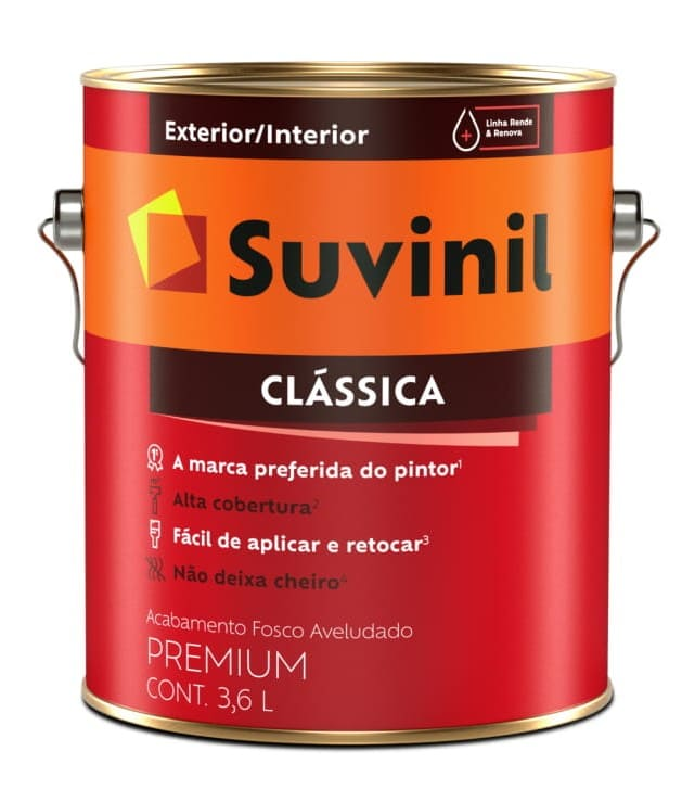Tinta Látex Clássica Fosca Cores Para Paredes Suvinil 3,2Lts