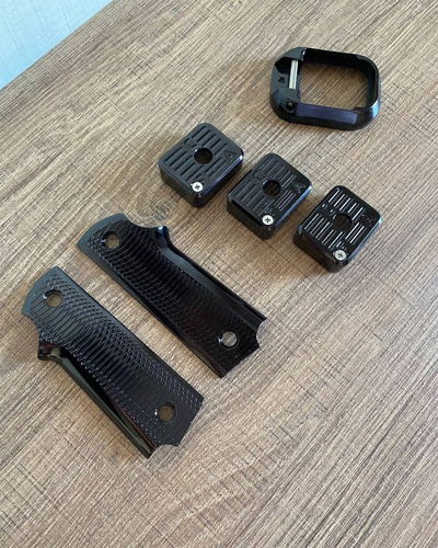 Kit Competição Imbel - Talas, Funil E 3 Bumpers Aluminio Anodizado Black