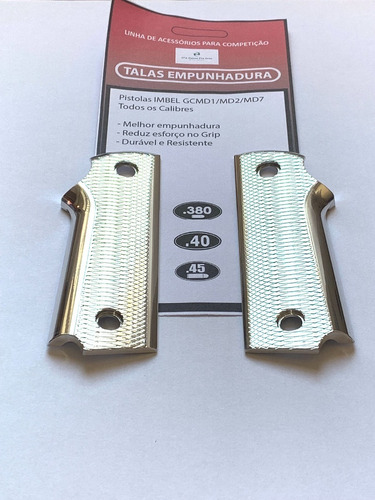 Par de Talas Aluminio Anodizado Natural + Parafusos Inox