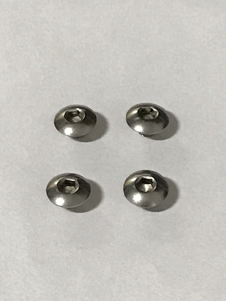 Par de Talas Aluminio Anodizado Preta + Parafusos Inox