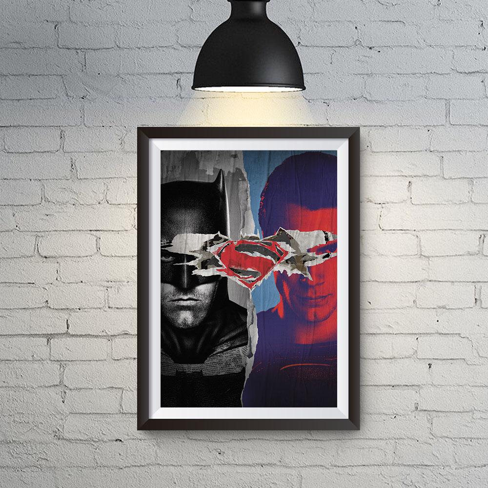 Quadro Decoração Geek Filme Batman x Superman