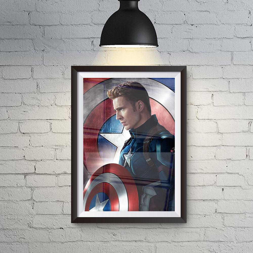 Quadro Decoração Geek Capitão América Marvel