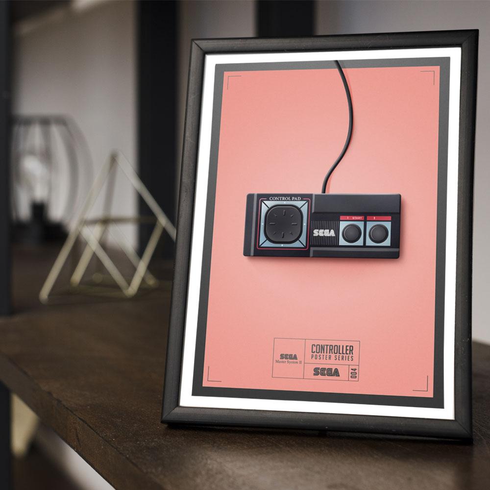 Conjunto 3 Quadros Geek Controles Game Sega Master System 2 / Nintendo / Nintendo 64