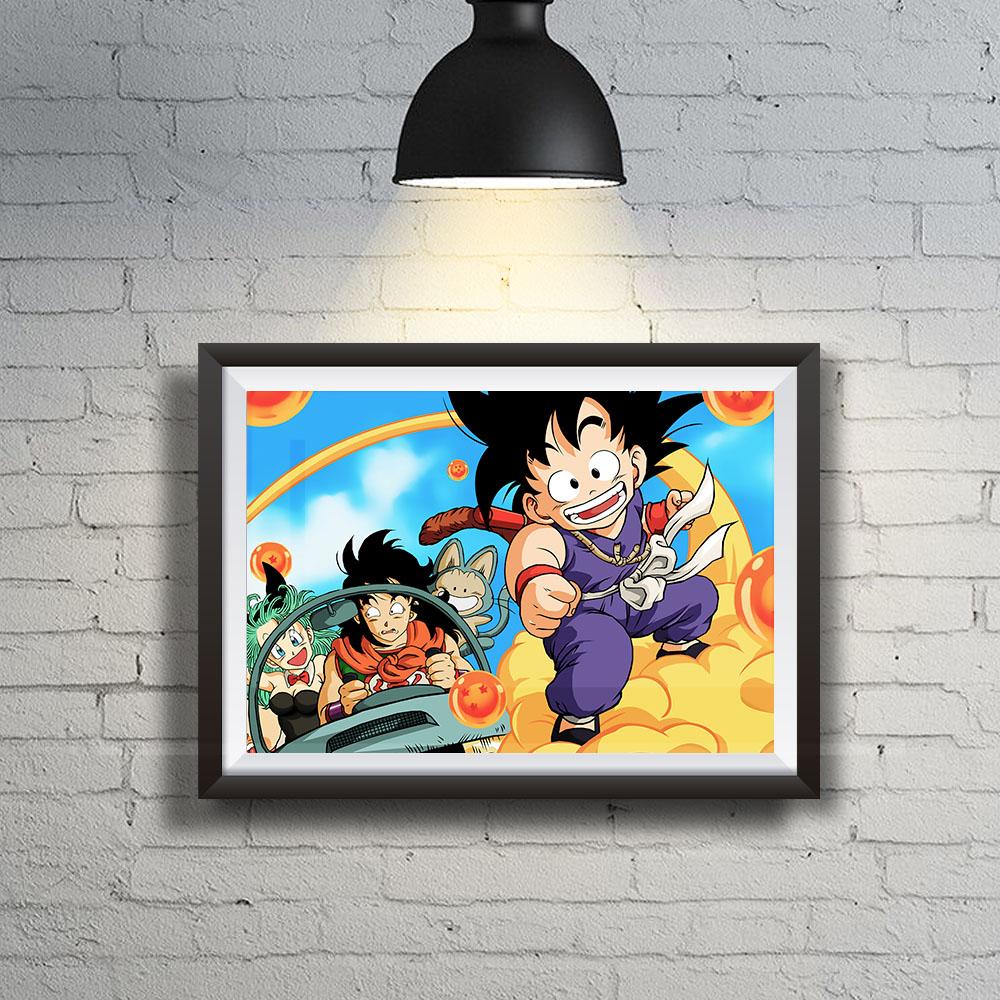 Quadro Decoração Geek Dragon Ball Goku na Nuvem Voadora