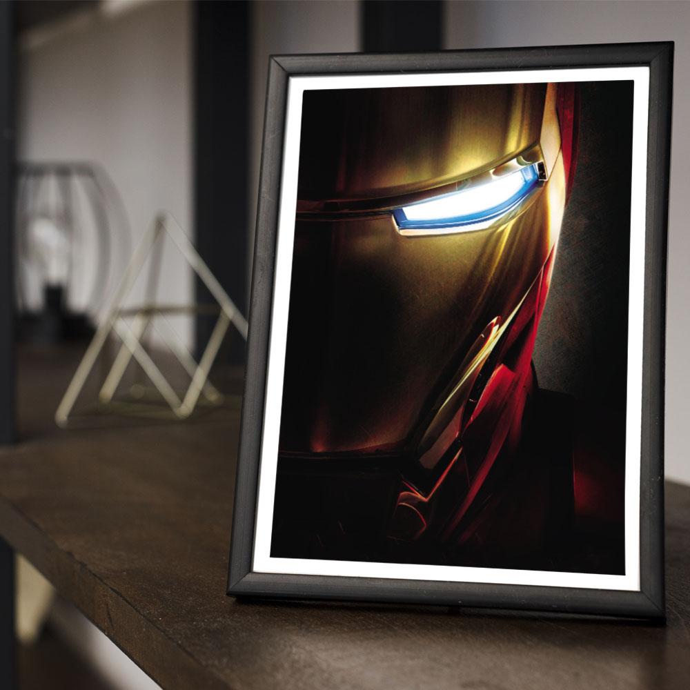 Quadro Decoração Geek Capacete do Homem de Ferro