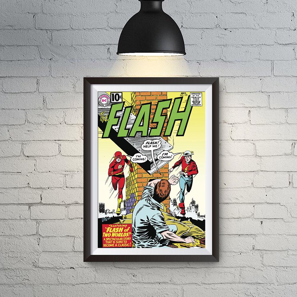 Quadro Decoração GeeK HQ Flash Velocistas Jay Garrick e Barry Allen