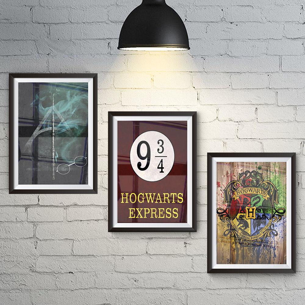 Conjunto 3 Quadros Saga Harry Potter