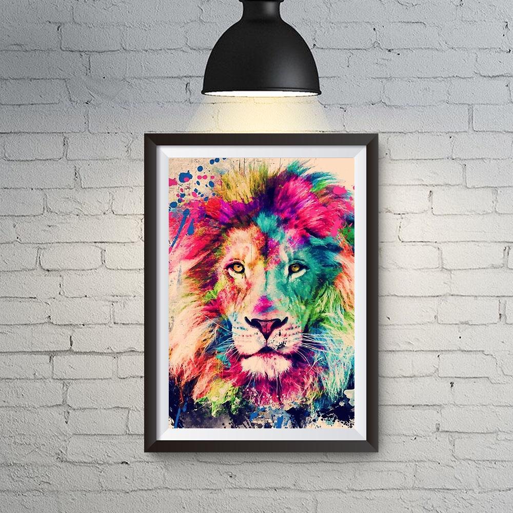 Quadro Decoração Leão de Judá Colors