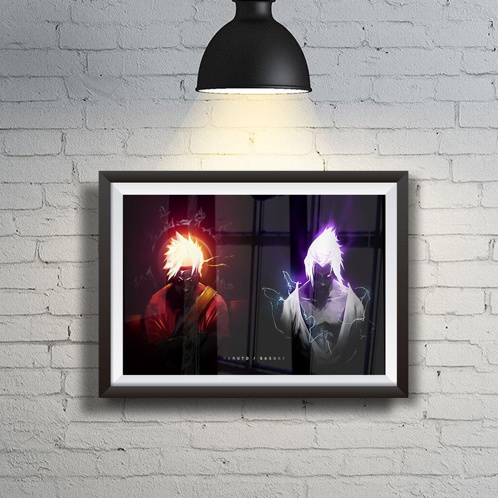 Quadro Decoração Geek Naruto And Sasuke Badass